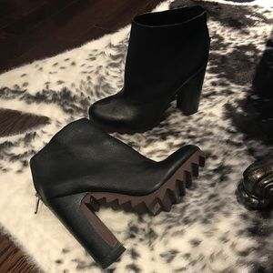 Circus By Sem Edelman Leather Ankle Boots